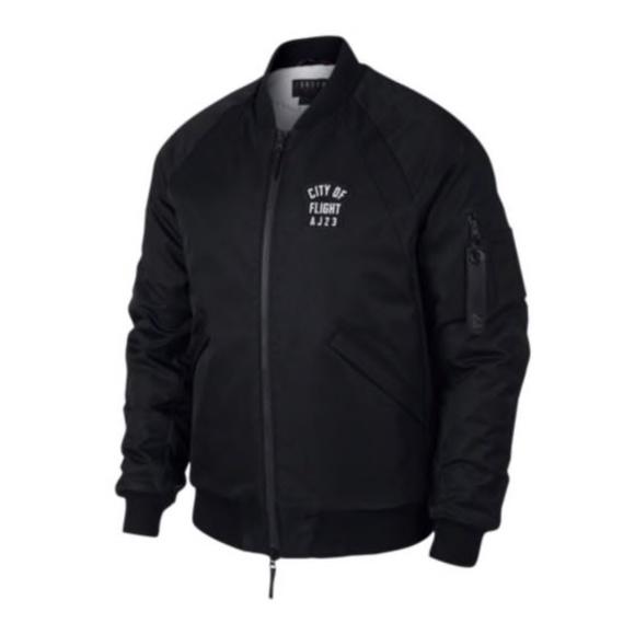 ac859e59748 Jordan Jackets & Coats | Air City Of Flight Aj23 Black Bomber Jacket ...